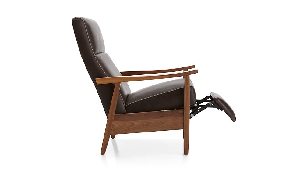 ... Greer Leather Power Recliner ...  sc 1 st  Crate and Barrel & Greer Leather Power Recliner | Crate and Barrel islam-shia.org