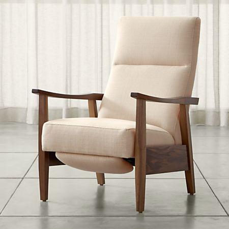 Fine Greer Fabric Wood Arm Recliner Inzonedesignstudio Interior Chair Design Inzonedesignstudiocom