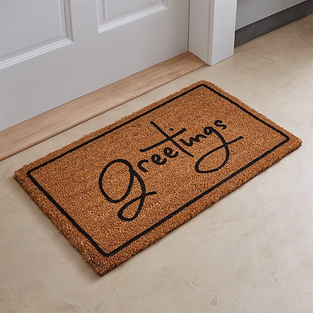 Greetings Brown Doormat Crate And Barrel
