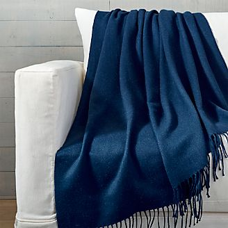 blue throw blanket Blankets & Throws | Crate and Barrel blue throw blanket