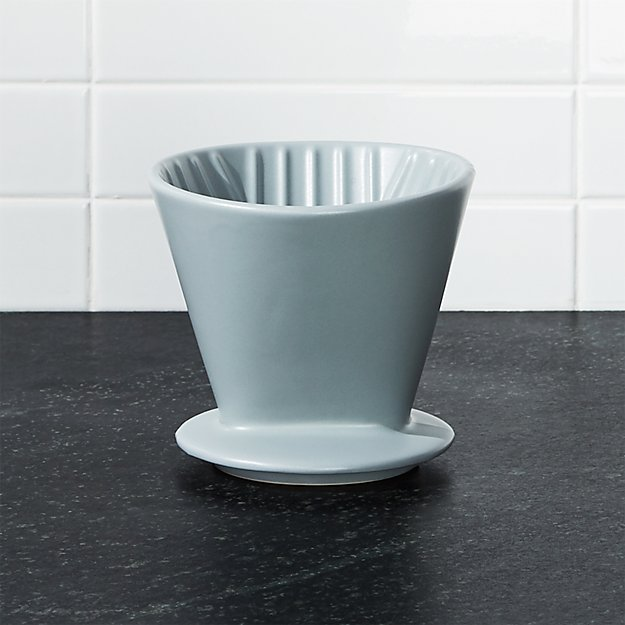 Grey Ceramic 4-Cup Pour-Over - Image 1 of 5