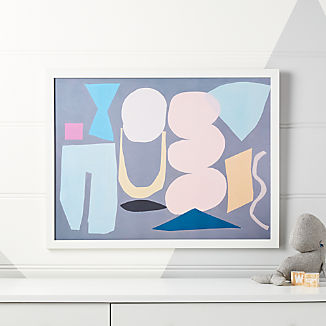 Captivating Grey Composition Framed Wall Art Kids