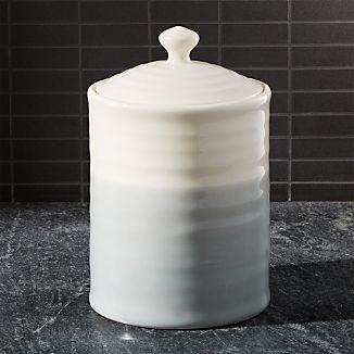 Grey Dip Large Kitchen Canister
