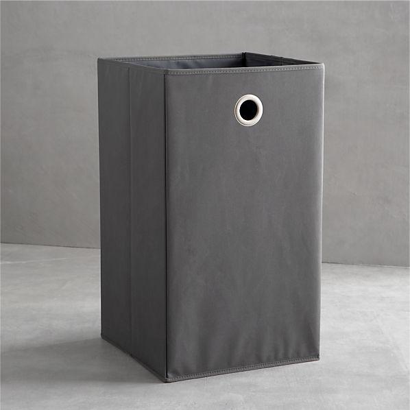 Grey Folding Hamper with Grommet