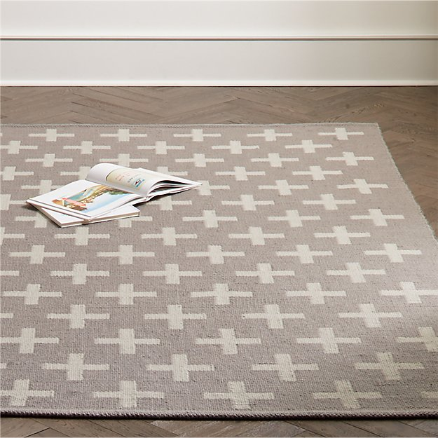 Positive Grey Indoor Outdoor Rug | Crate and Barrel