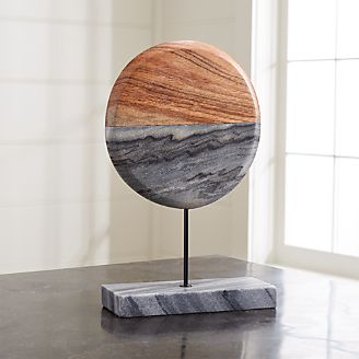 Metal wood and wire sculptures crate and barrel grey marble wood sculpture greentooth Gallery