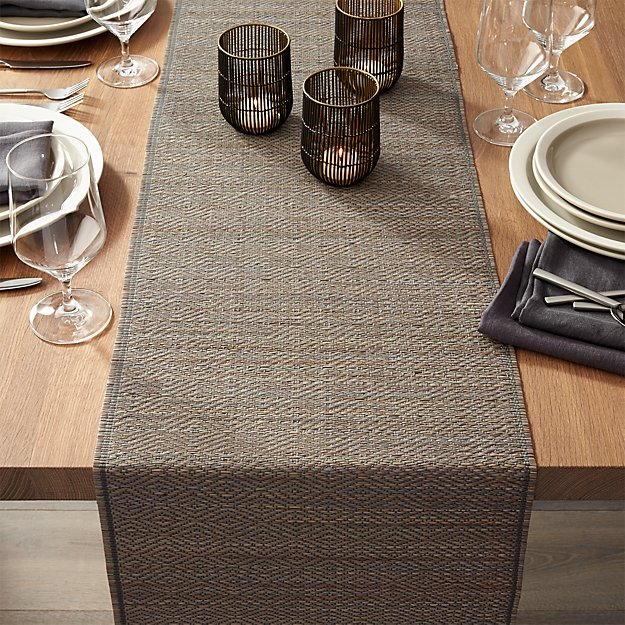 Grey Mendong Table Runner