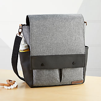 Petunia Pickle Bottom Grey and Black Pathway Pack Crossbody Diaper Bag