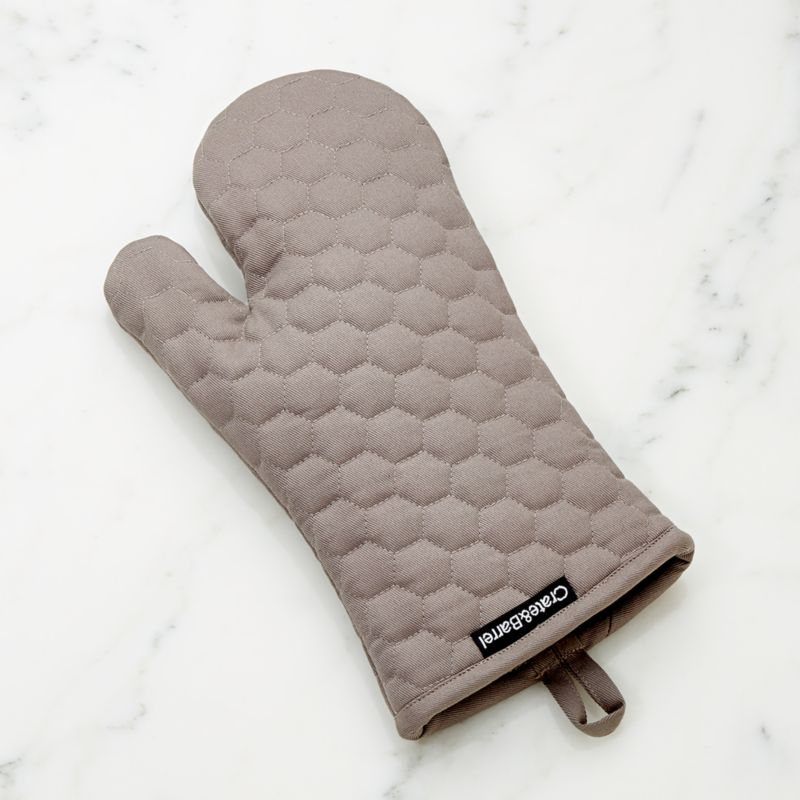 Grey Quilted Oven Mitt Reviews Crate And Barrel