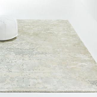 Grey Printed Viscose Rug