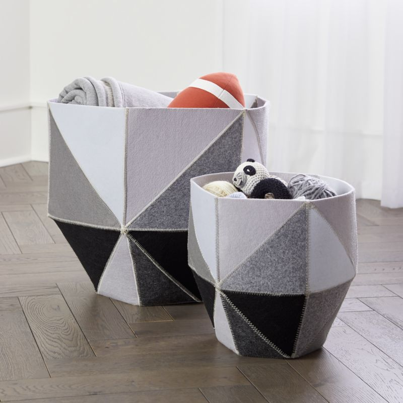 Geometric Cube Storage Bin Crate And Barrel