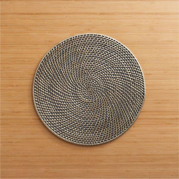 Artesia Grey Rattan Round Placemat