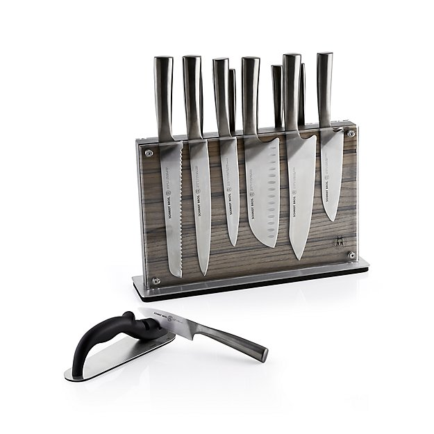 Schmidt Brothers 174 Grey Shiplap 15 Piece Knife Set Crate