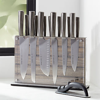 Schmidt Brothers ® Grey Shiplap 15-Piece Knife Set
