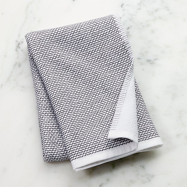 Grey Textured Terry Dish Towel