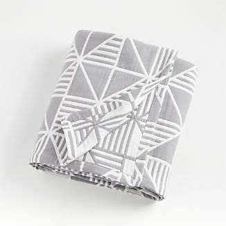 Grey Triangle Bed Blanket