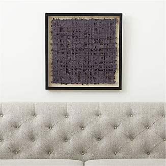 Grey Woven Paper Wall Art