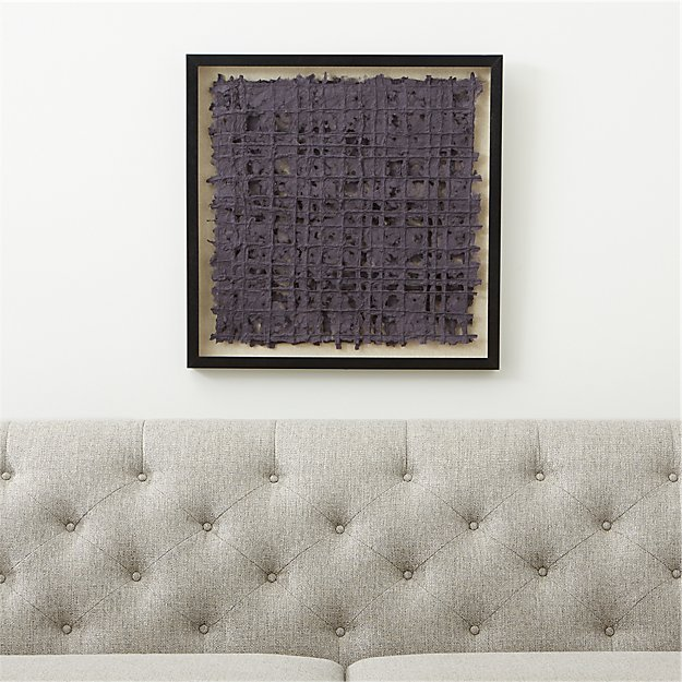 Grey Woven Paper Wall Art - Image 1 of 8