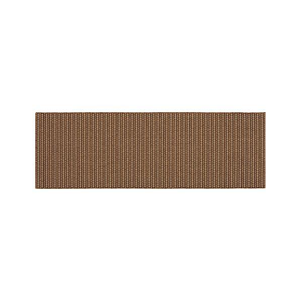 Grid Brown Indoor-Outdoor 2.5'x8' Runner
