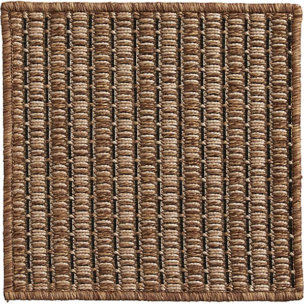 """Grid Brown Indoor-Outdoor 12"""" sq. Rug Swatch"""