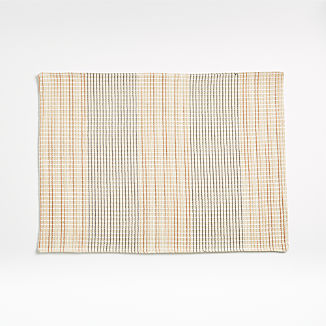 Grid Embroidered Placemat