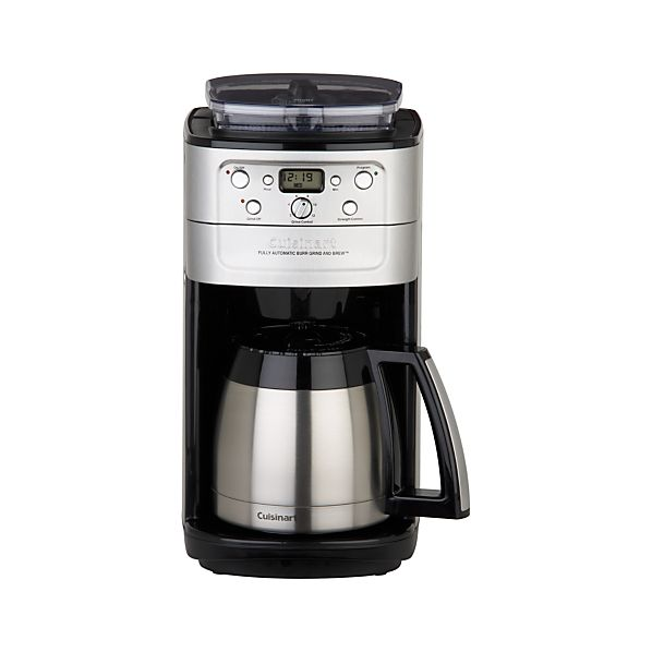 cuisinart 12 cup coffee maker cuisinart 174 grind and brew thermal 12 cup coffee maker 29420