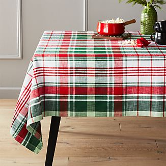 Red And Green 60 X120 Plaid Tablecloth