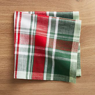 Red And Green Plaid Napkin