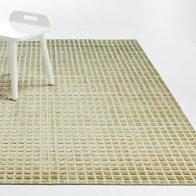 Green Ombre Viscose Rug - Image 1 of 4