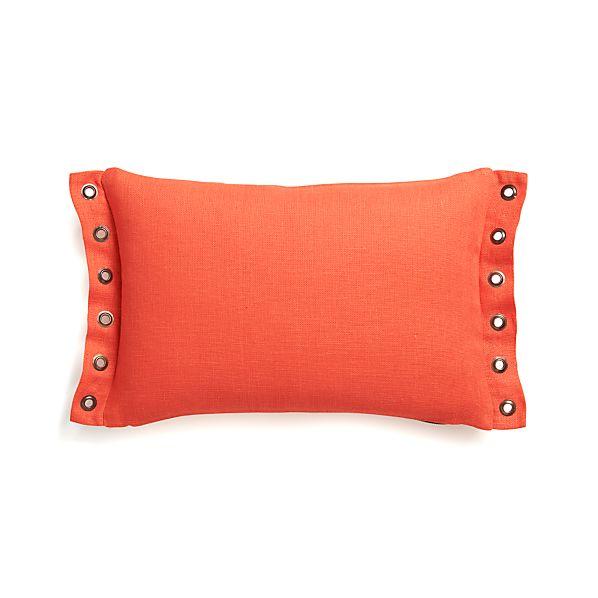 "Grommet Orange 18""x12"" Pillow with Down-Alternative Insert"