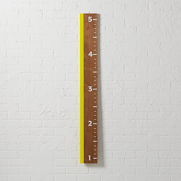 Yellow Ruler Growth Chart Reviews Crate And Barrel