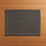 Grasscloth Graphite Cotton Placemat