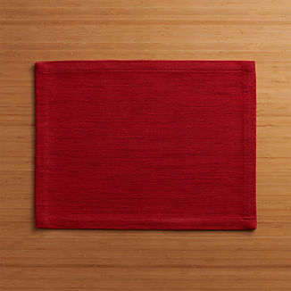 Grasscloth Ruby Cotton Placemat