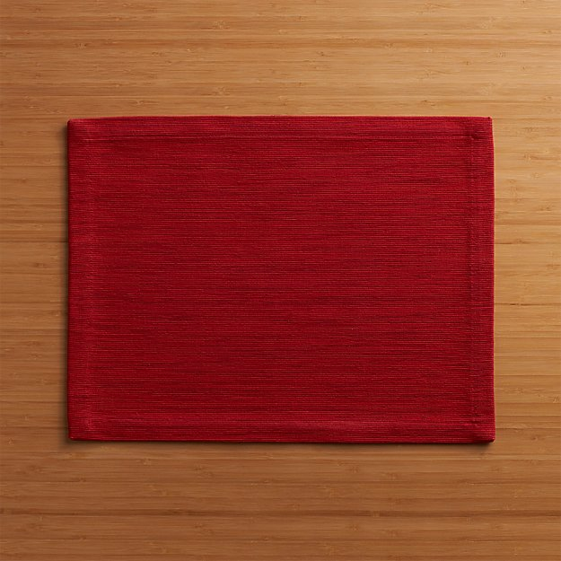 Grasscloth Ruby Cotton Placemat - Image 1 of 1