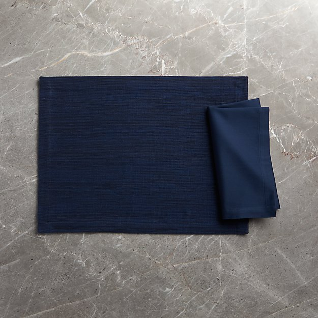 Grasscloth Navy Blue Cotton Placemat Reviews Crate And