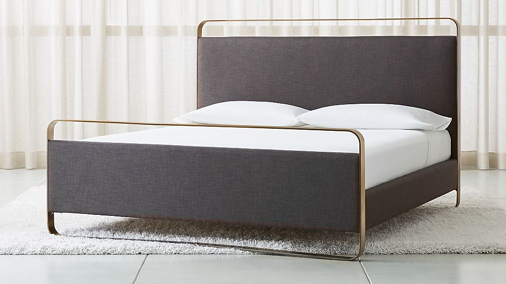 Gwen King Metal And Upholstered Bed Reviews Crate And