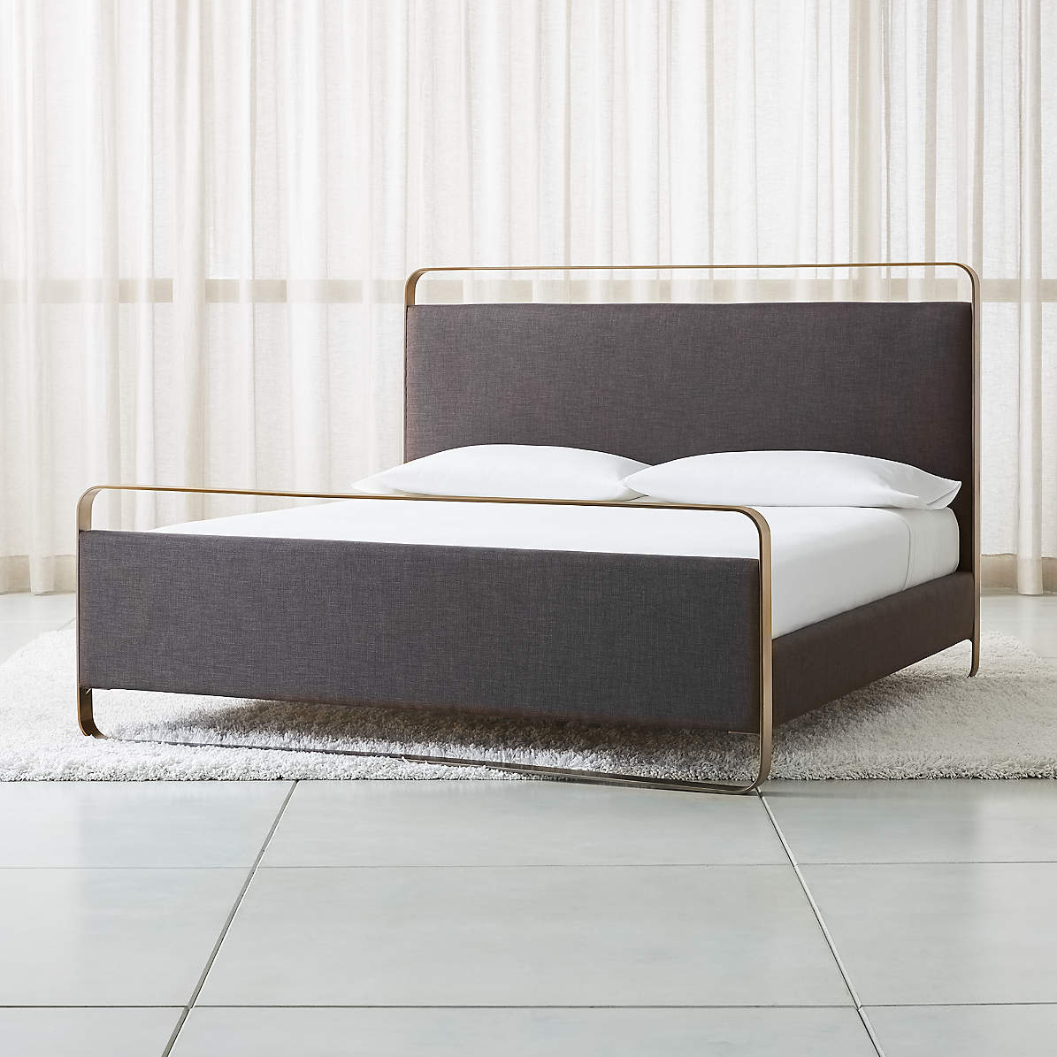 Gwen Metal And Upholstered Bed Crate And Barrel