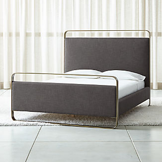 Gwen Metal and Upholstered Bed