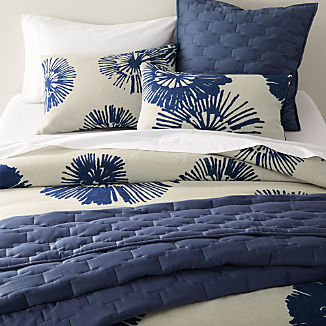 Haana Blue Floral Bed Linens
