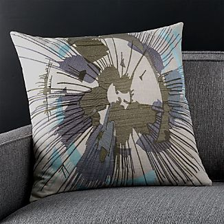 """Habiki 20"""" Pillow with Feather-Down Insert"""