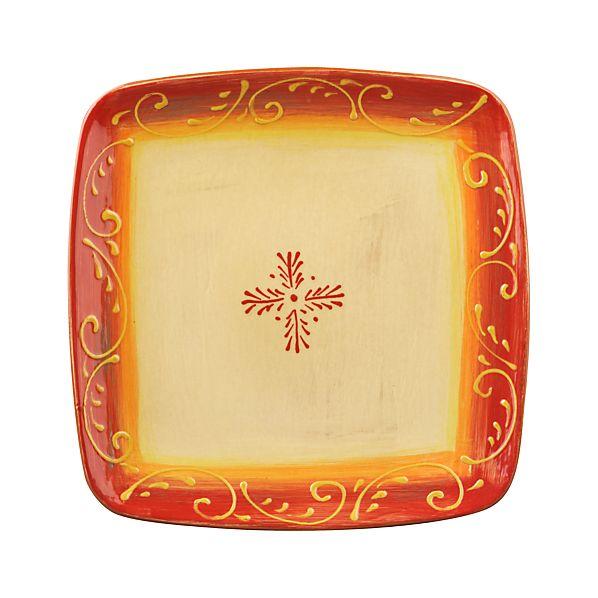 Hacienda Red Square Platter
