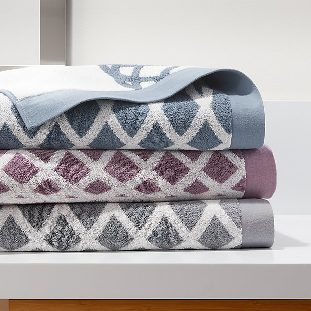 Hadli Organic Jacquard Bath Towels - Image 1 of 7