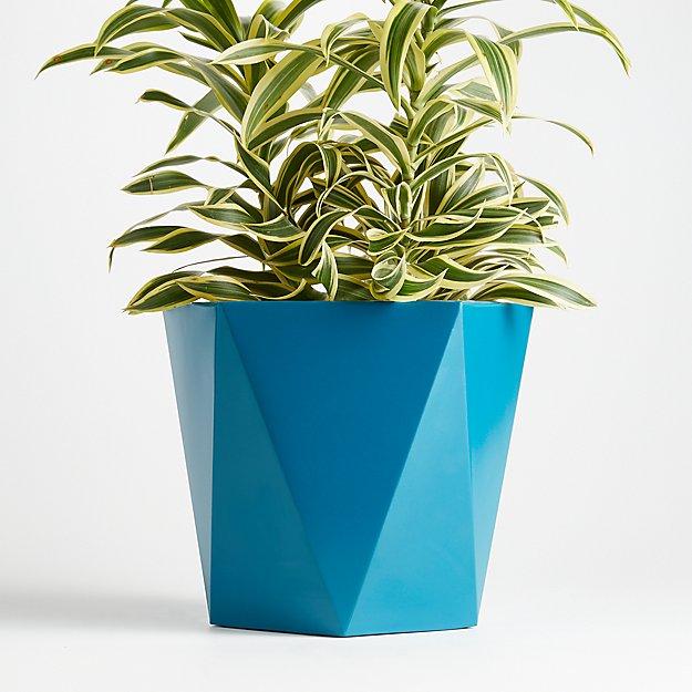 Haeden Large Teal Planter - Image 1 of 2