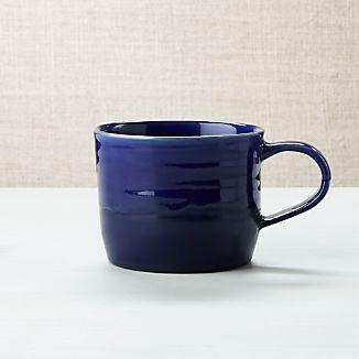 Half And Half Blue Mug