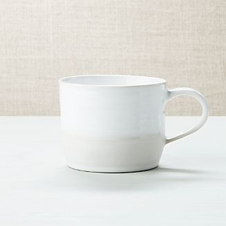 Half And Half White Mug