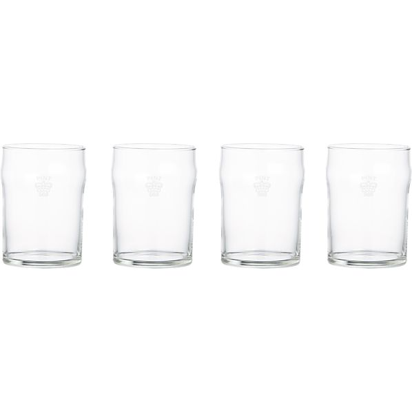 Set of 4 Half Pint Tumblers with Crown