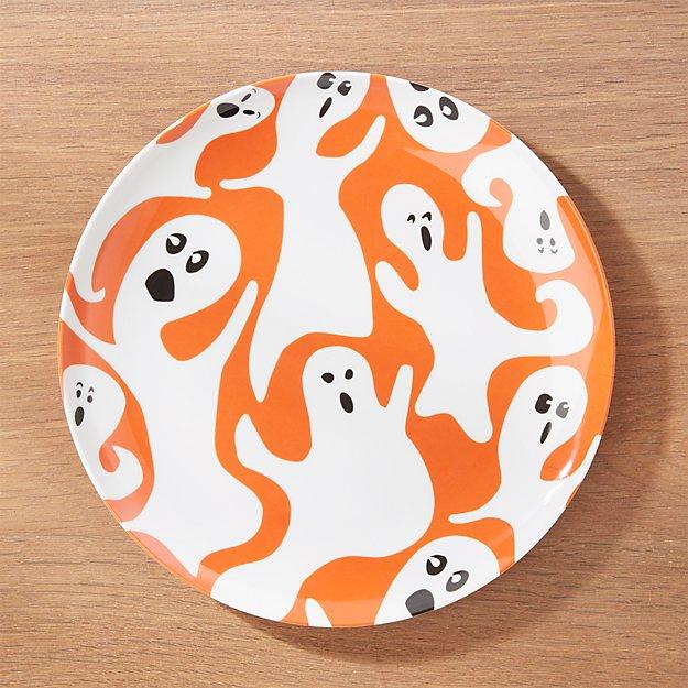 Halloween Ghost Melamine Dinner Plate
