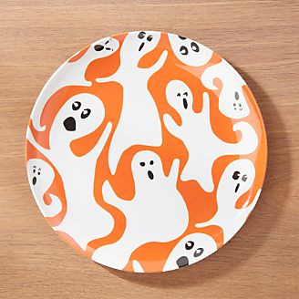 halloween ghost melamine dinner plate - Halloween Plates Ceramic