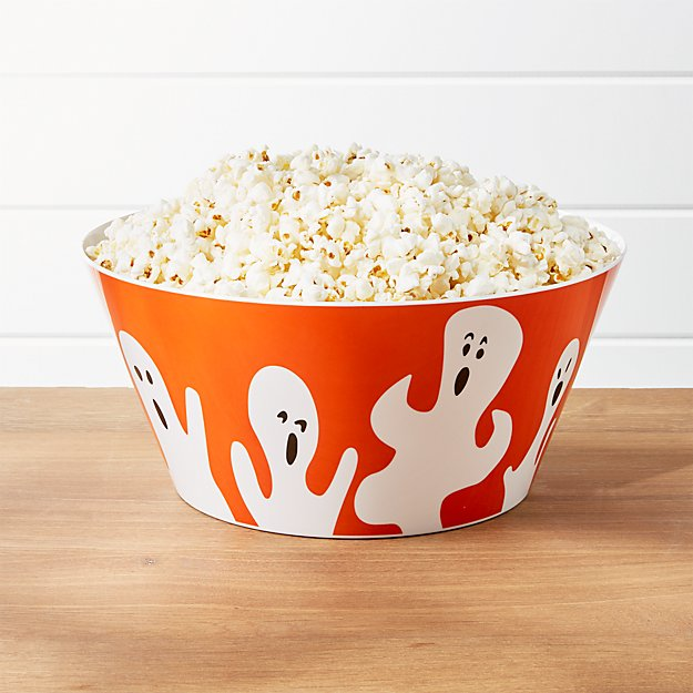 Halloween Ghost Melamine Treat Bowl