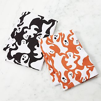 Halloween Ghosts Dish Towels, Set of 2